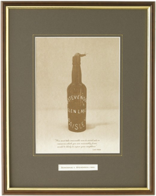 Ginger Beer bottle in   Donahue v Stevenson Case