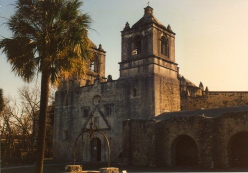 The Concepcion Mission in San Antonio, Texas, c. 1731, part of the San Antonio Missions National Historical Park.