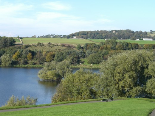 Loch behind the palace