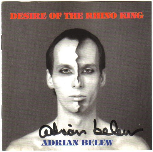 Adrian Belew signed cd.