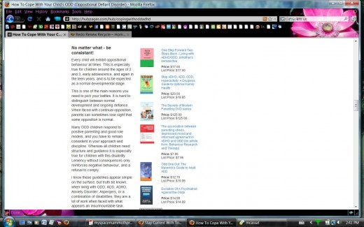 Screen shot of Enelle's book in the Amazon capsule - on her own hub!