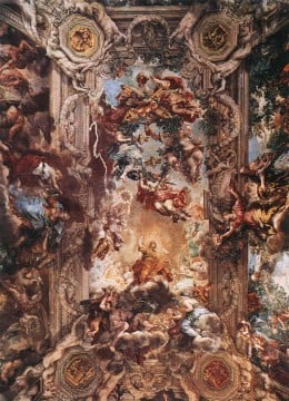 On ceiling of Palazzo Barberini  By Pietro da Cortona