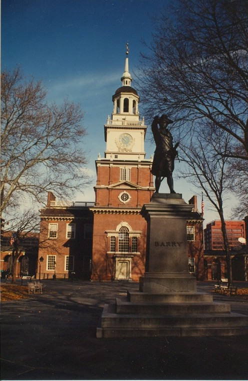 Maybe the best known historic structure in the United States: Philadelphia's Independence Hall.