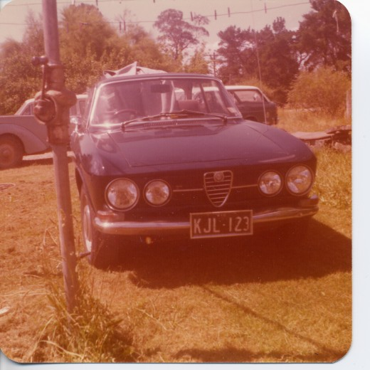 My 1968 1750 GT Veloce with soft sunroof. Body by Bertone.Top speed 125mph after I modified the cylinder head. 118mph standard when new. 29 mpg.