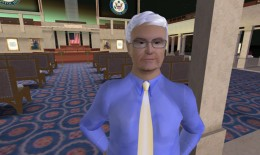 Newt Gingrich Rezzes in Second Life (Reuters)