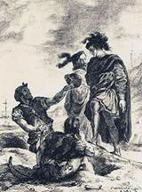 Hamlet, Horatio and the Gravediggers - Delacroix 1843