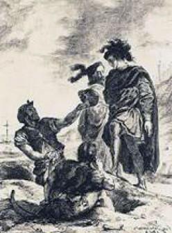 Hamlet, Horatio and the Gravediggers - Delacroix 1843