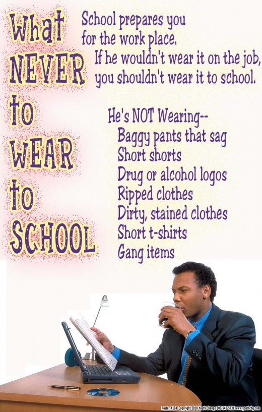 Help students learn what to wear to class-- and what not to wear
