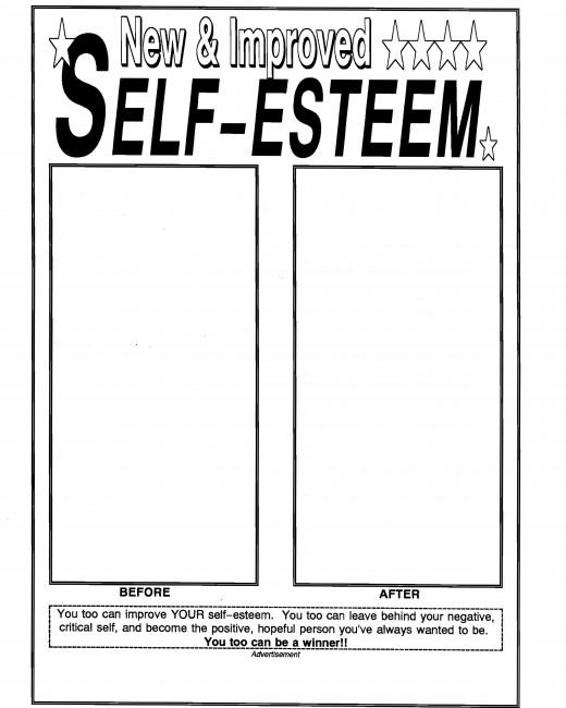 Teacher worksheet builds students' self-esteem