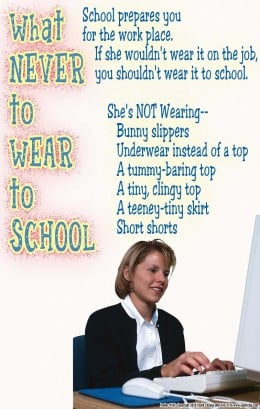 Teacher resources stop classroom management problems, even what to wear to school