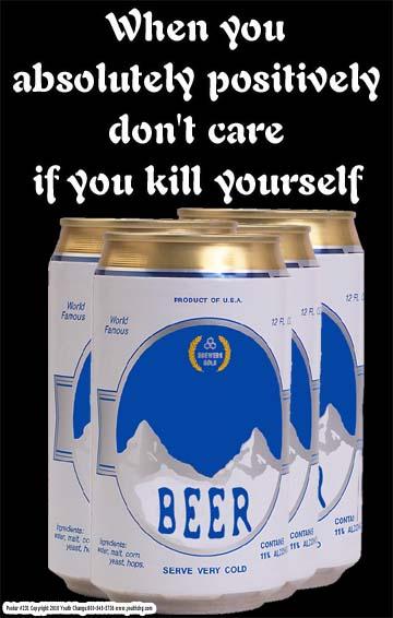 Juvenile drinking prevention poster