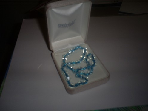 The bracelet I made in an old jewelry box.  (Photo Taken By Sweetiepie On Hubpages)