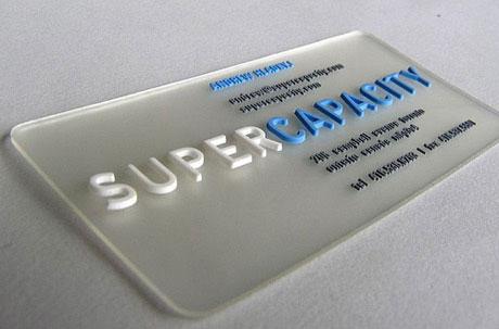 3d plastic name card