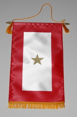 Image of a gold star military service banner.
