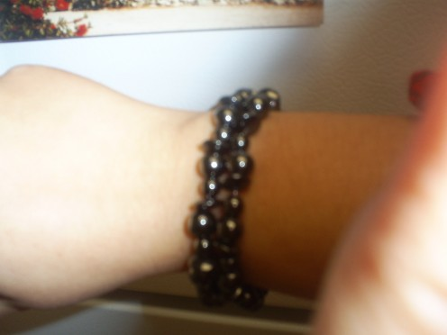 Here is another example of a bracelet you can make using magnetite beads. (Photo By Sweetiepie On Hubpages)
