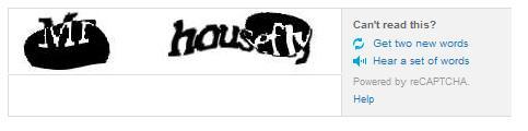 Example CAPTCHA