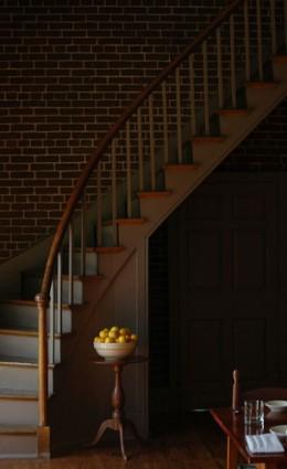 Spiral staircase at Shaker Village in Harrodsburg, Kentucky