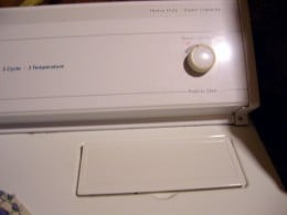Lint Cover and Start Switch