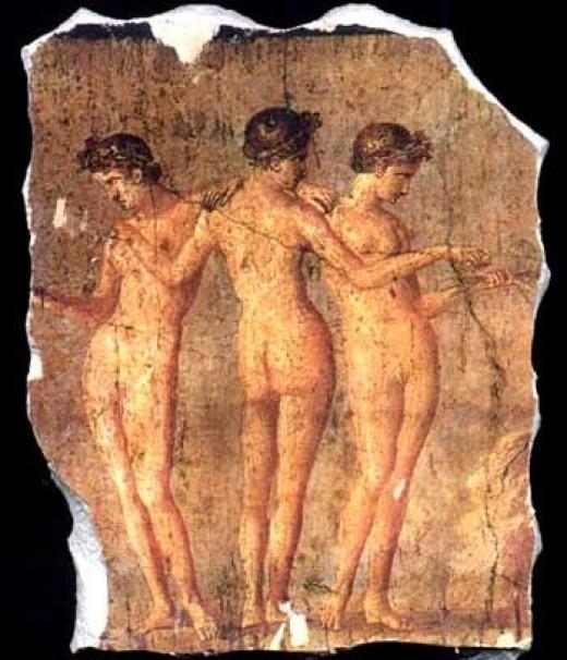 Fresco of The Three Graces