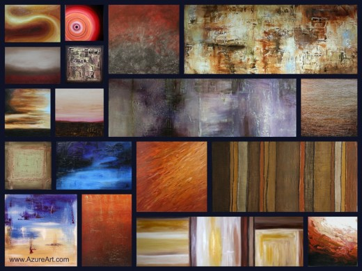 A selection of some of the paintings that I have sold.