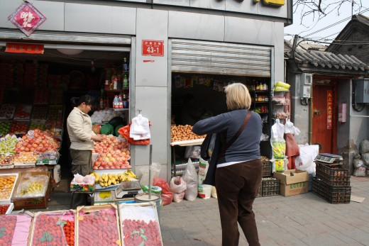 Fruit and Vegies in a Hutong stall