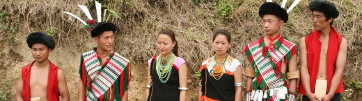 Naga youth in traditional attire, Nagaland, India