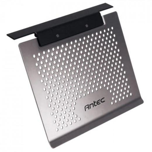 The Basic Notebook Cooler antec is a great fan free cooling aid for notebook cooling.