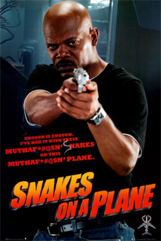 Snakes on a plane movie review starring Samuel Jackson.