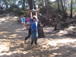 The rope swing!