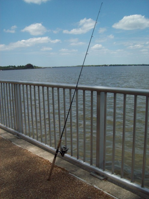 Fishing is one of the many activities available to visitors at Philippe Park. (Photo by cvanthul)