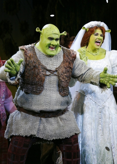 Scene from the live broadway play of Shrek