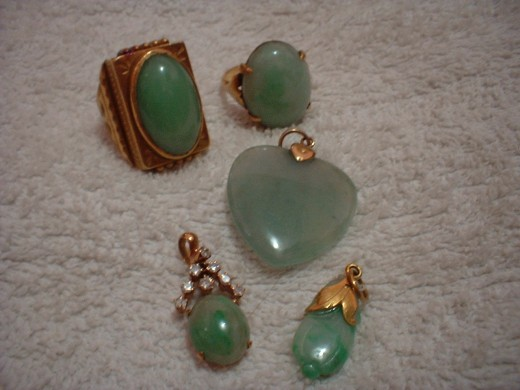 Jade rings and pendants
