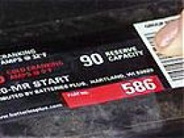 RC rating on Battery Label (Photo courtesy of diynetwork)