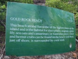 Gold Rock Beach Sign