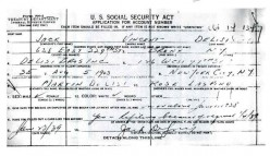 Social Security Application from 1939