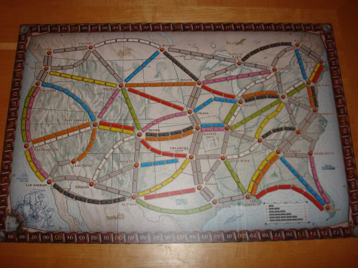 Ticket to Ride - Game Board