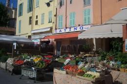 Fruit and vegetable shop in Menton, France.