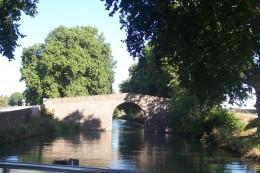 Approaching a narrow bridge on the Midi