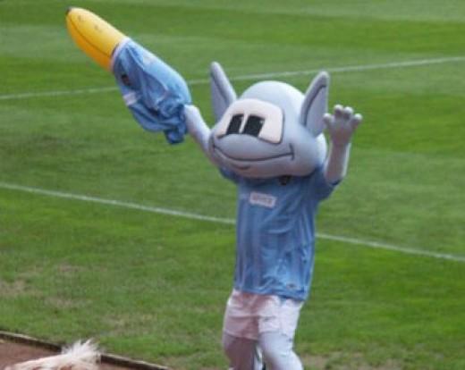 One strange mascot!