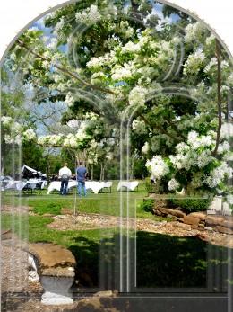 Wedding reception being prepared at Bernhardt Winery
