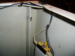 Inside top of dryer Door Switch