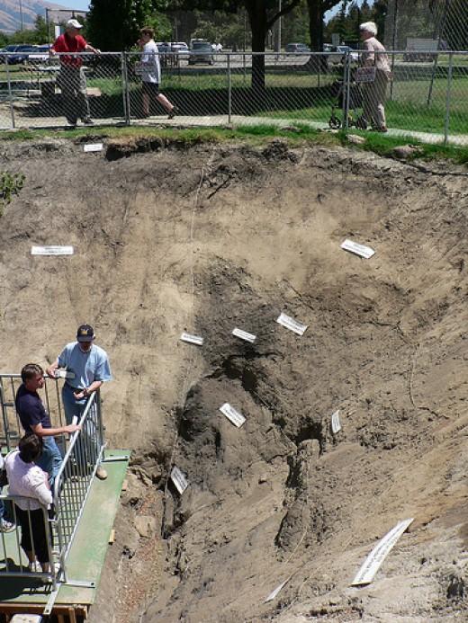 A fault line under inspection.