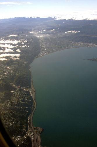 Wellington fault line, New Zealand.
