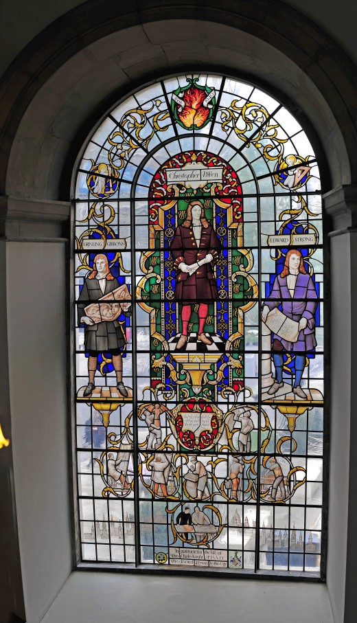 Christopher Wren Stained Glass Window