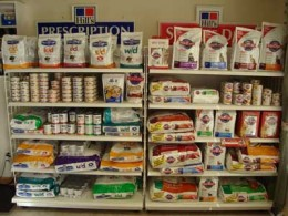 Look for the Hill's Prescription Pet Food Display at your veterinarian's office.