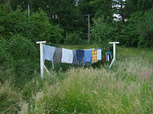 Fresh Clean Washing hanging out to dry in the fresh Air.