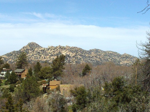 This picture shows a bit more of The Pinnacles.