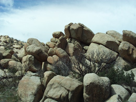 A collection of the large boulders out at The Pinnacles.