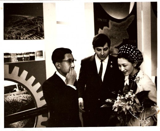 Emperor Akihito and Empress Michiko(Prince & Princess at the time)