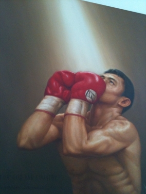 Painted portrait of Manny Paquiao